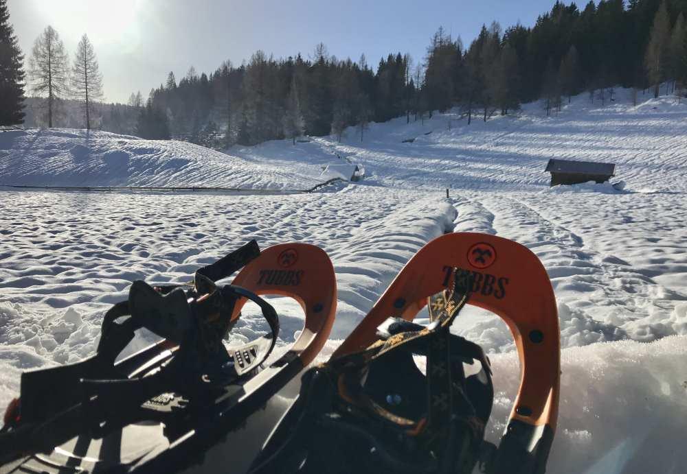 Ausrüstung Schneeschuhwandern - ich nutze gerne die Tubbs Schneeschuhe