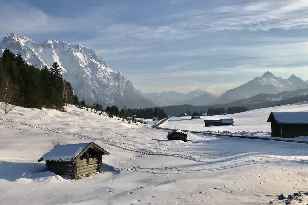 Bei der Goasalm im Winter zwischen Krün und Mittenwald
