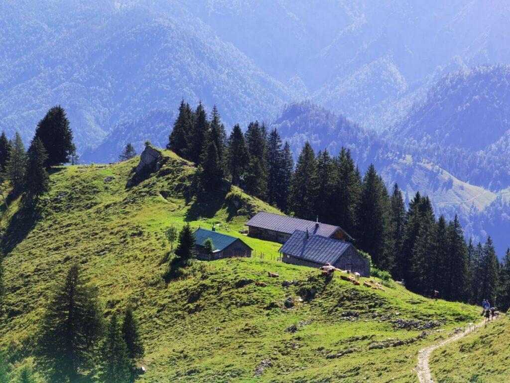 Zu Hütten und Almen wandern in Deutschland