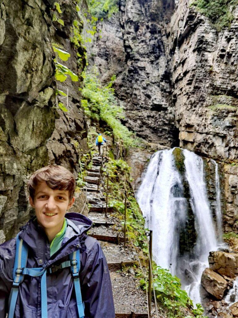 Durch die Üble Schlucht wandern - zum großen Wasserfal